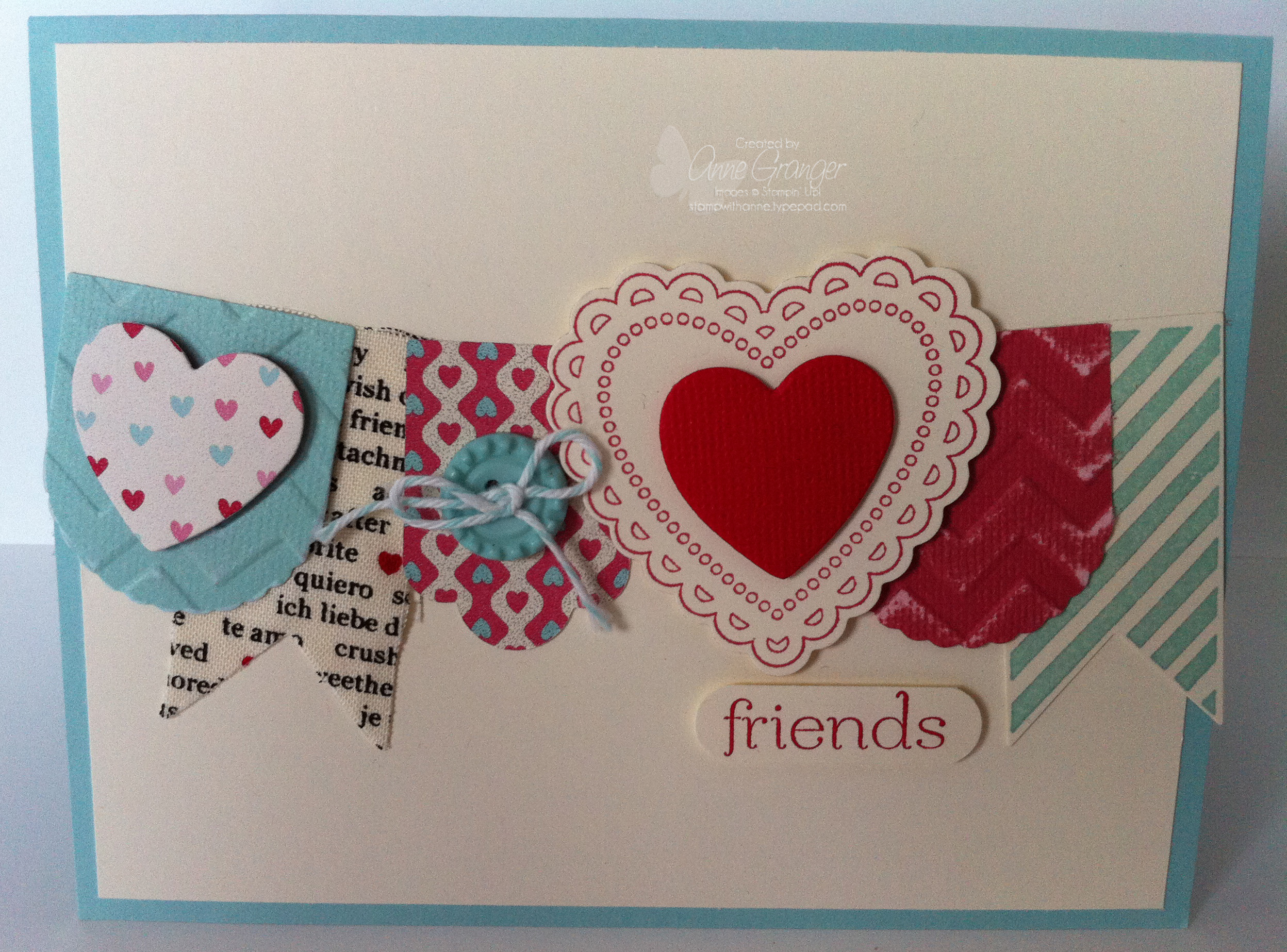 Hearts a Flutter Card #1 - Stamp With Anne!