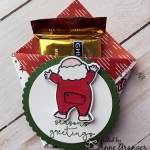 Adorable Diaper Fold Treat Holder made with the Santa