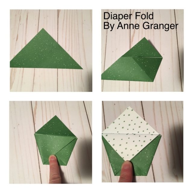 With four easy steps you can create a Diaper Fold Treat Holder