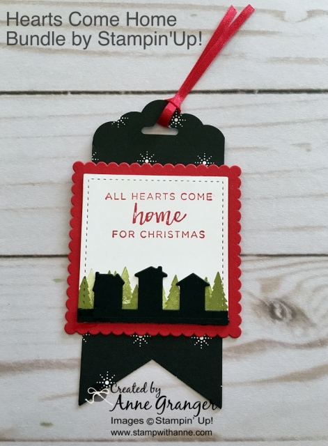 Gift Tag made with the Hearts Come Home Bundle by Stampin' Up!