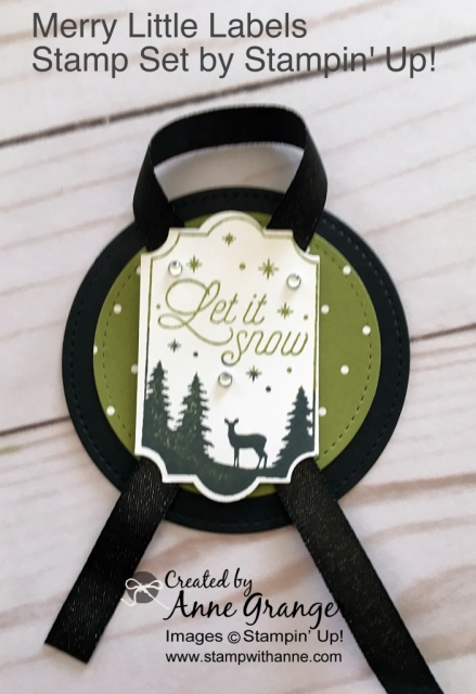 Gift Tags create with the Merry Little Labels Stamp set by Stampin' Up! #stampinup