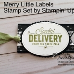 Gift Tag made with the Merry Little Labels stamp set. #stampinup, #merrylittlelabels