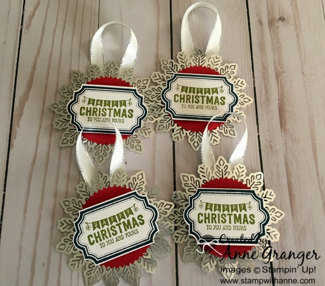 Gift Tags create with the Labels to Love stamp set by Stampin' Up!