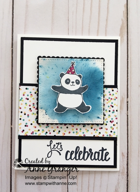 Party Panda's stamp set by Stampin' Up! You can earn this for FREE with a qualifying order during Sale a Bration promotion #stampinup