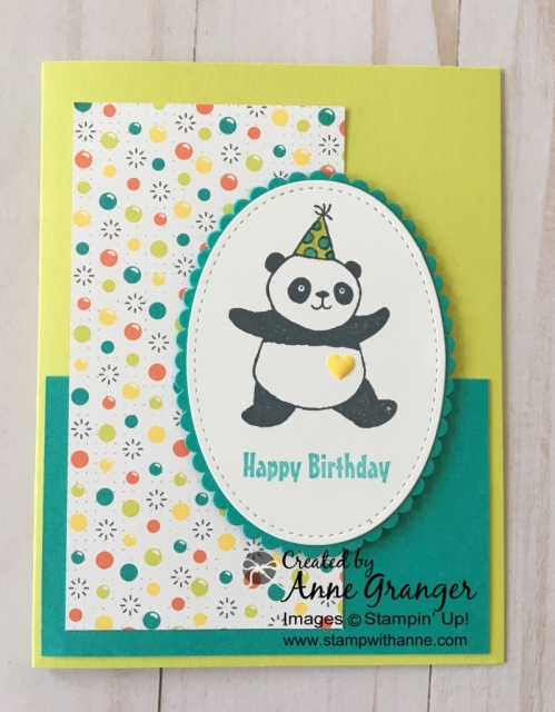 Party Panda's stamp set, you can earn this for FREE during Sale a Bration with a $60 order.