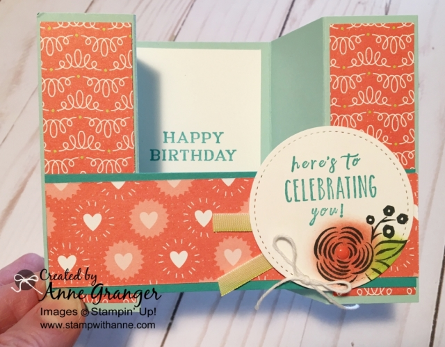 Bridge Card created using the Perennial Birthday stamp set.