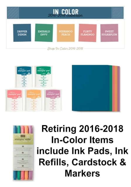 Retiring 2016-2018 INcolour by Stampin' Up!