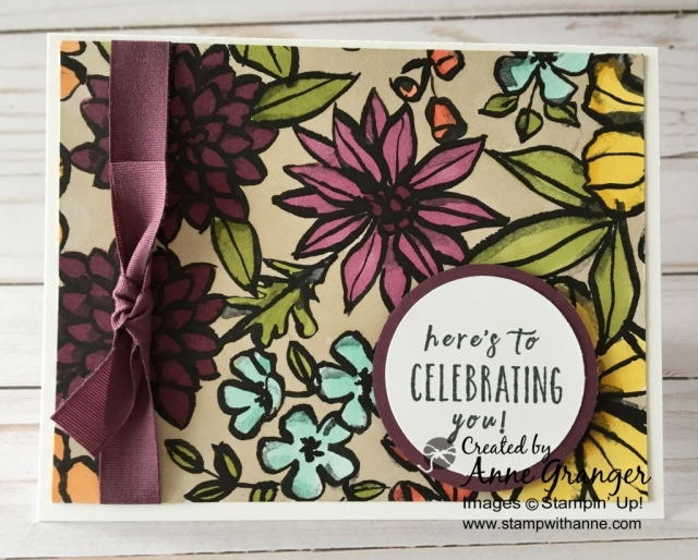 Petal Passion Designer Series Paper and Stamps' Blends by Stampin' Up!