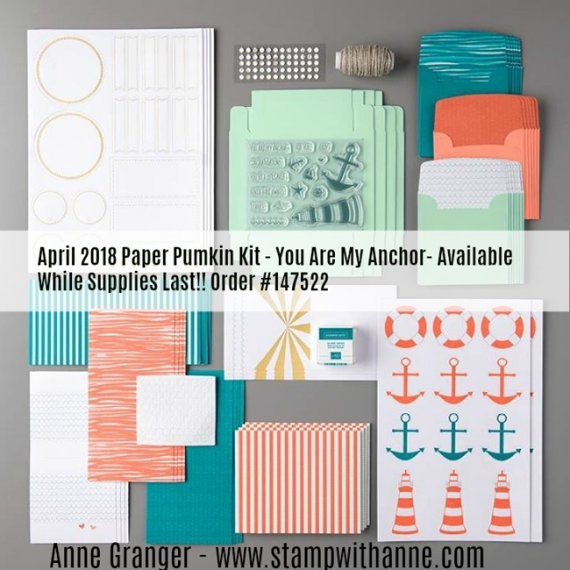 April 2018 - Paper Pumpkin Kit - You Are My Anchor Refill Kits