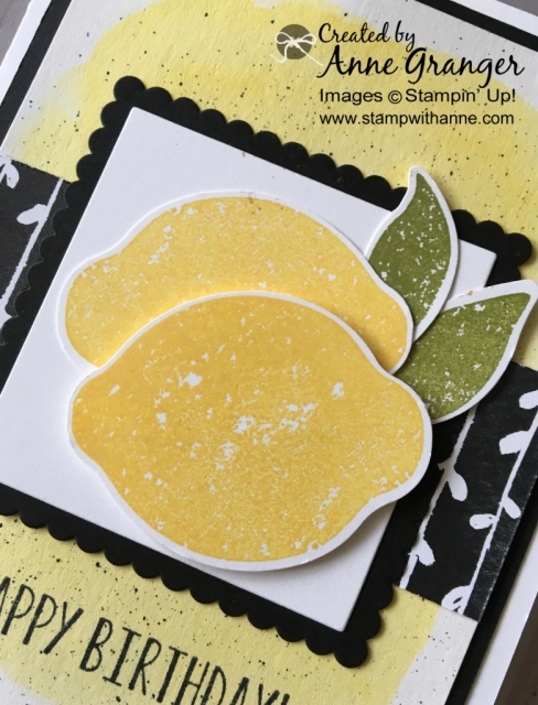 Happy Birthday card created with the Lemon Zest stamp set by  Stampin; Up!