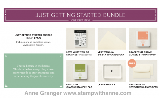 Just Getting Started Bundle that is available till May 31
