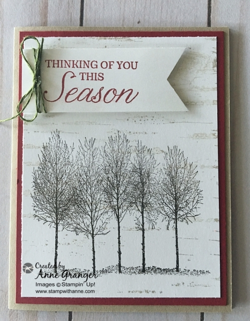 Birch Background Stamp Set by Stampin' Up!